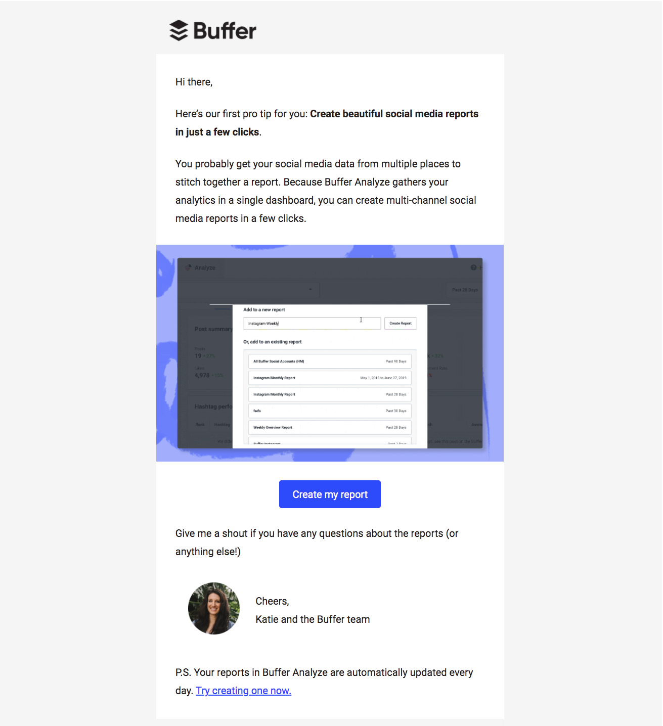 Buffer Features Emails