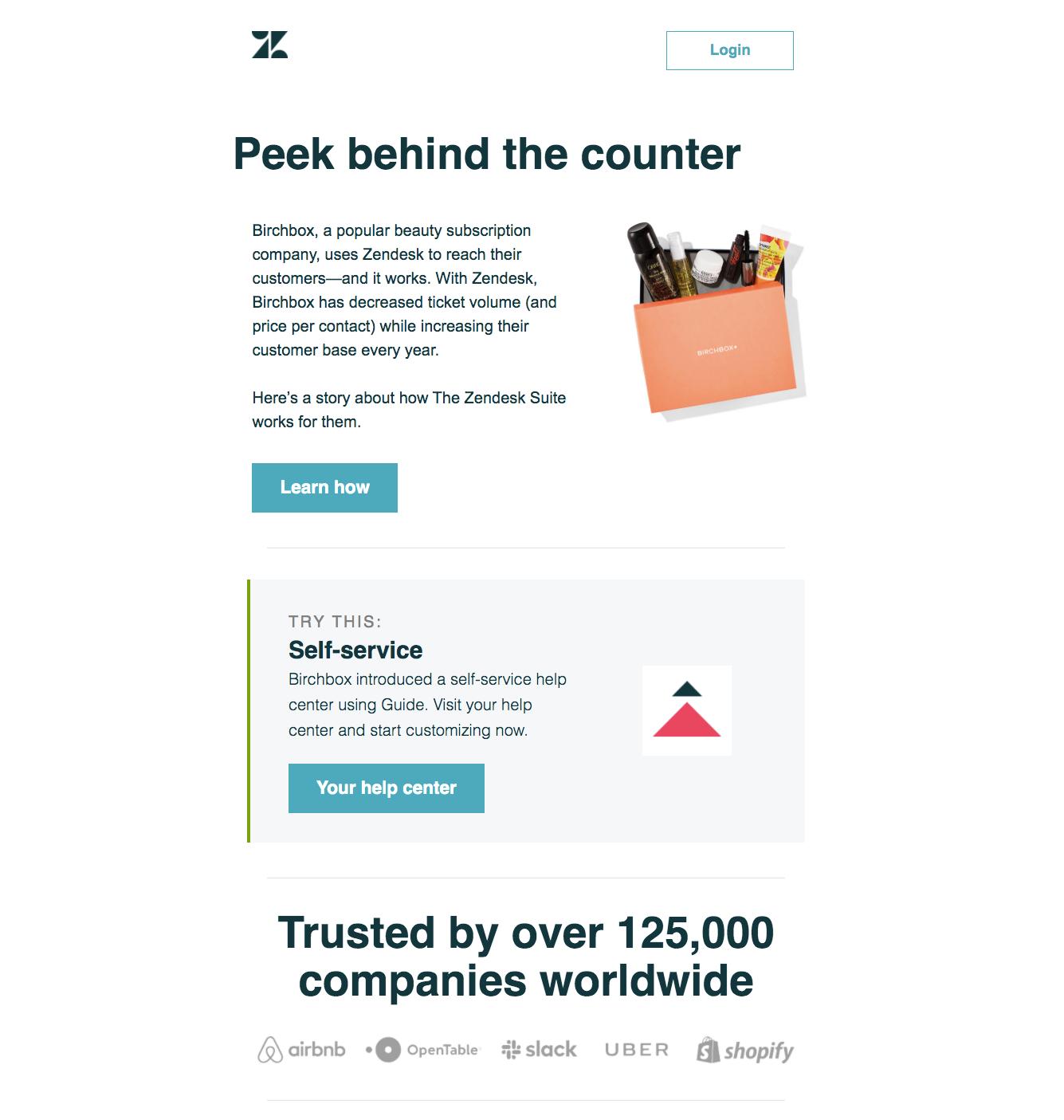 Zendesk Customer Story Email
