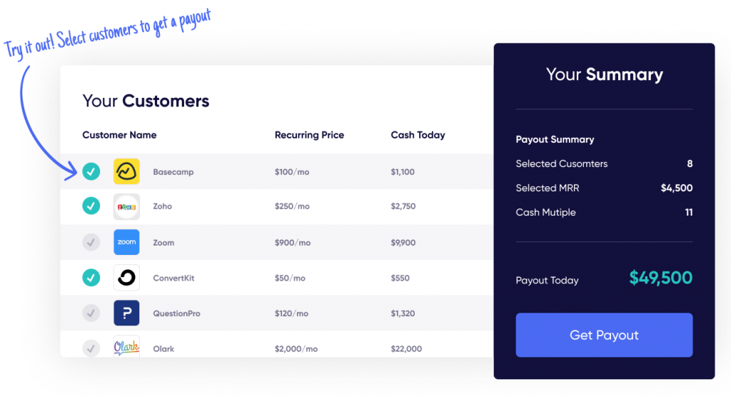 Founderpath payout dashboard